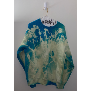 Neon Blue Acid Wash Sweatshirt