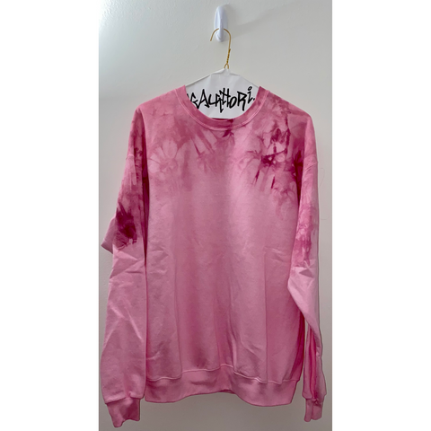 Bordeaux Acid Wash Sweatshirt
