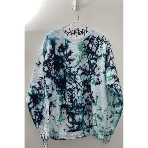 Black & Green Splatter Paint Sweatshirt