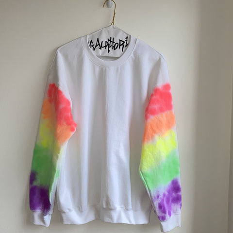 KIDS: Rainbow Sleeve Sweatshirt
