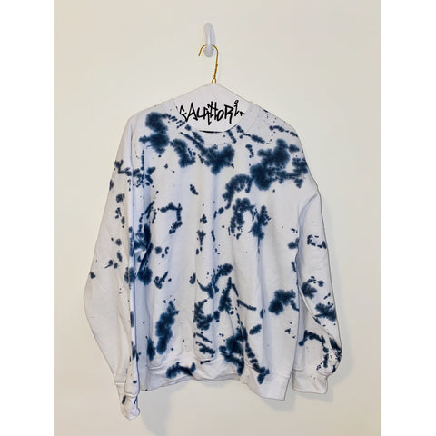 Black and White Splatter Paint Sweatshirt