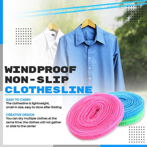🔥Only $6.80/Pc Today🔥Windproof Non-Slip Clothesline