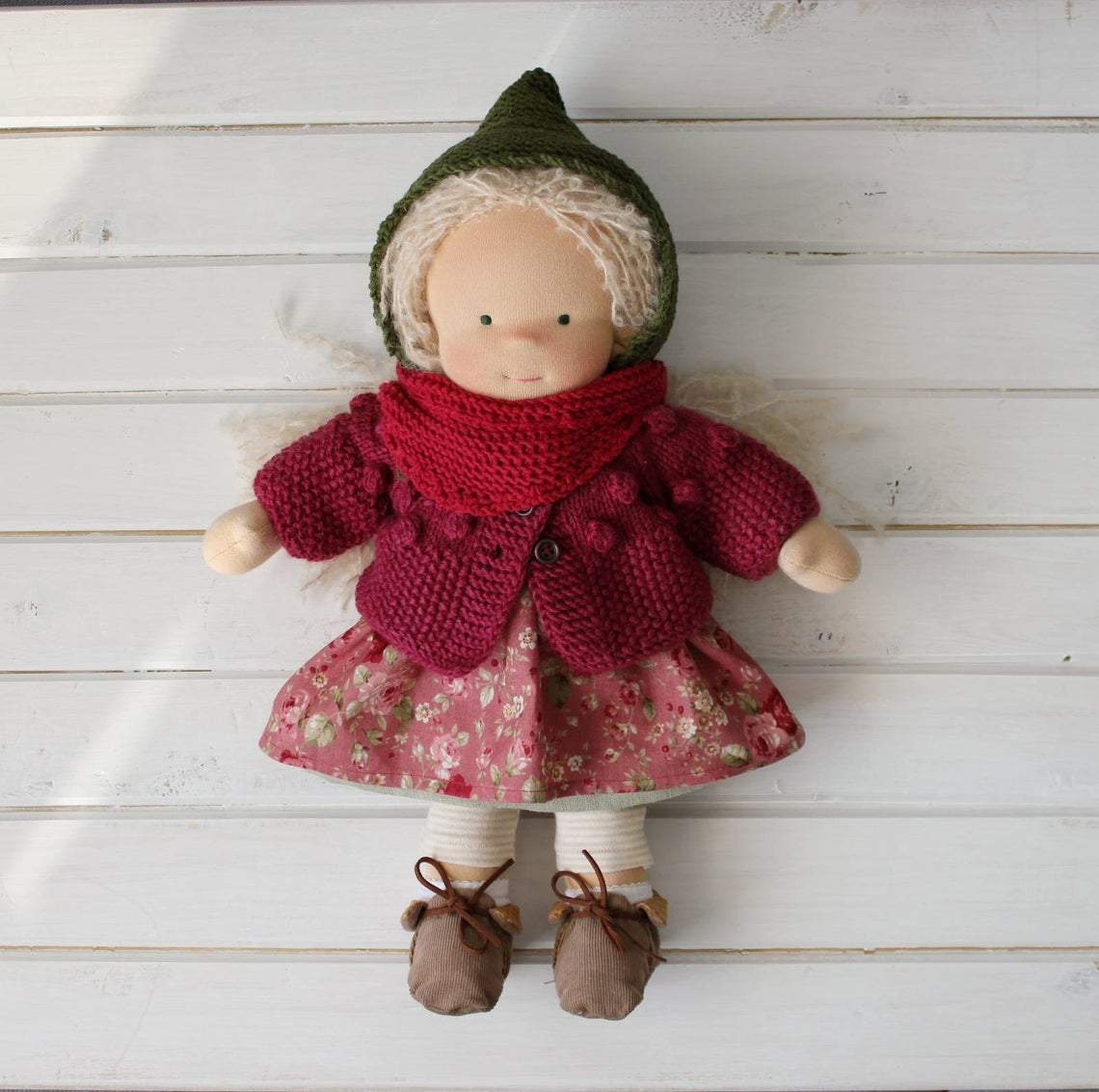 Waldorfdoll  Waldorfinspired  Natural fiber doll Waldorf doll clothes Soft doll Cuddle doll