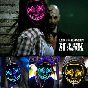 Scary Halloween Mask, LED Light up Mask Cosplay