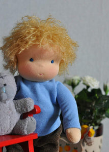 "Waldorf baby doll for kids Denis 7,87"" (20 cm) MADE TO ORDER soft doll\doll boy"