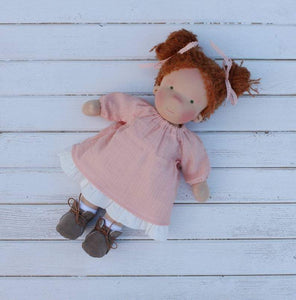Waldorf doll 14inch/37cm with big set of clothes Natural fiber doll Waldorfdoll First doll