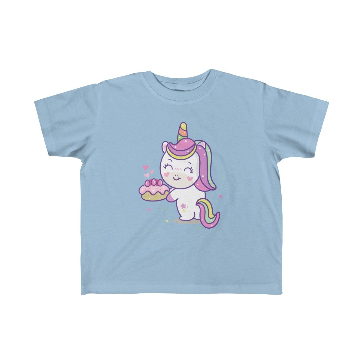 Unicorn Loves Strawberry Shortcake Kid Girls Tee - Baby Blue Product