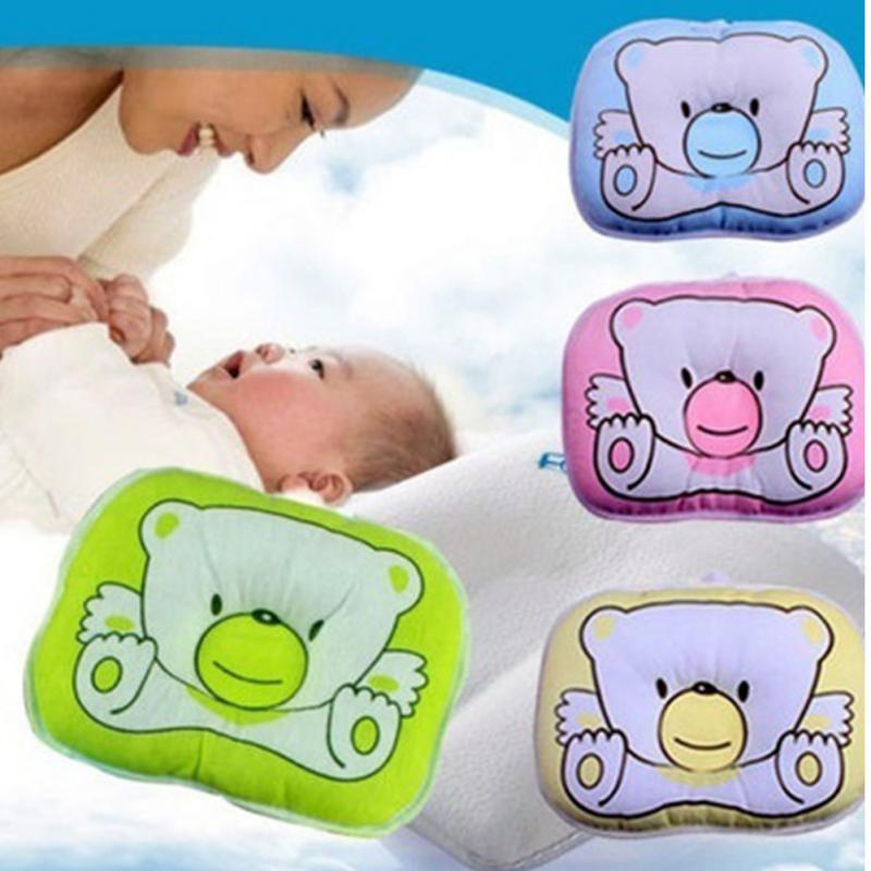 Newborn Infant Baby Bear Pattern Pillow Sleeping - Baby Blue Product