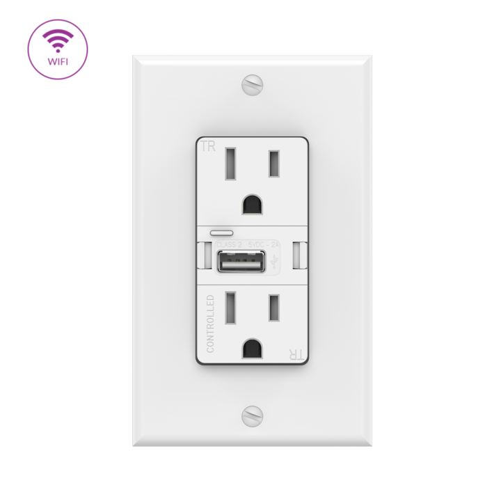 SWIDGET Smart Outlet WITH WI-FI Control & USB Charger