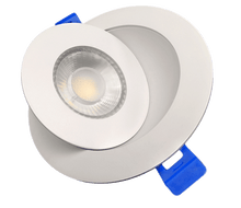 "Load image into Gallery viewer, 4"" LED Gimbal Recessed Fixture (Round White/Black) ( 10 PACK)"