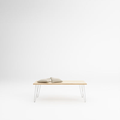 Custom Plywood Desk with Hairpin Legs
