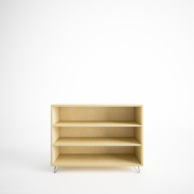 Custom Plywood Box Storage with Shelve(s) - Custom Desk