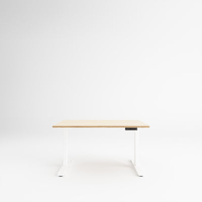 Custom Plywood Desk with Electronic Height Adjustment Frame