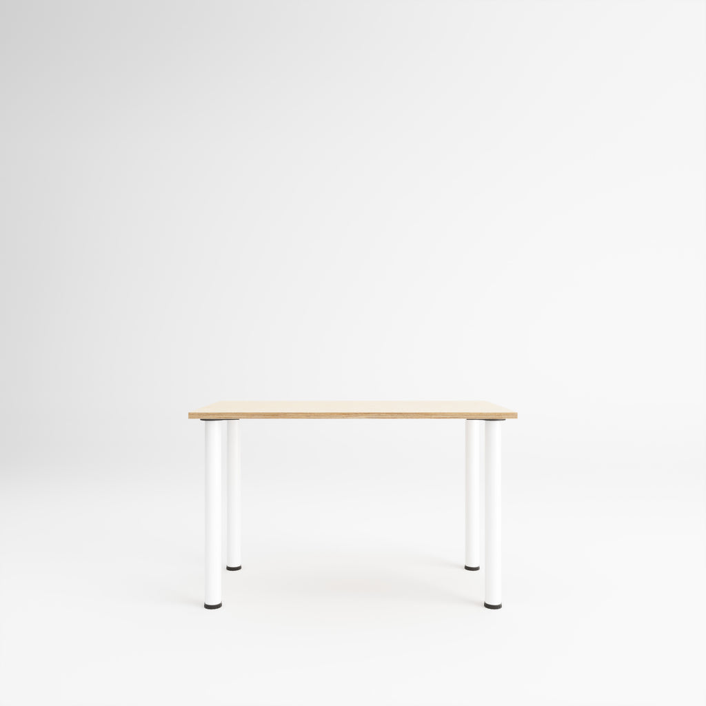 Custom Plywood Desk with Round Legs