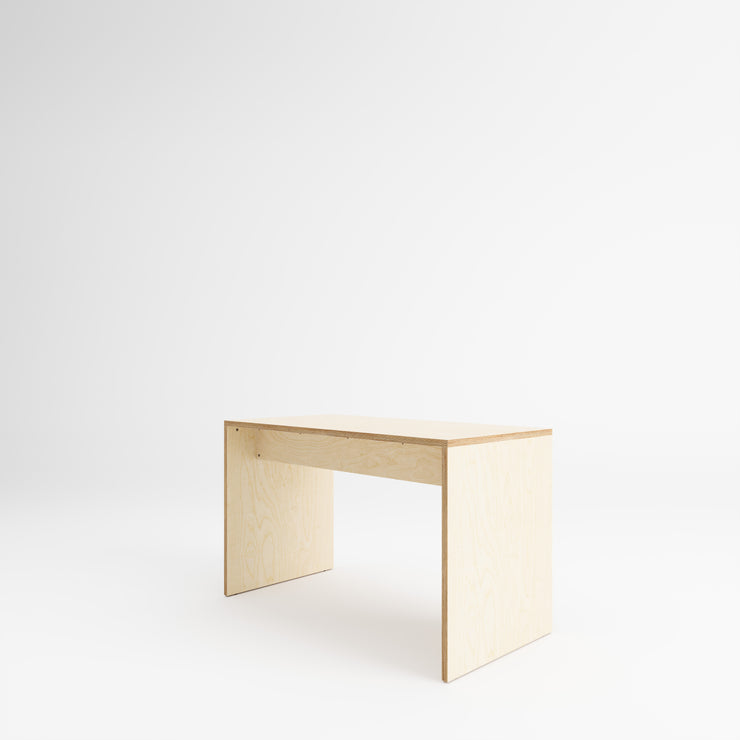 Custom Plywood Desk with Solid Sides