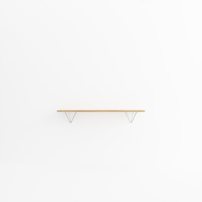 Custom Plywood Shelf with Prism Brackets Natural