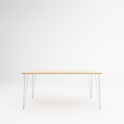Custom Plywood Table with Hairpin Legs Natural