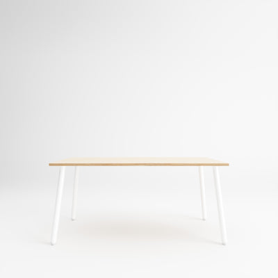 Custom Plywood Table with Single Pin Legs Natural