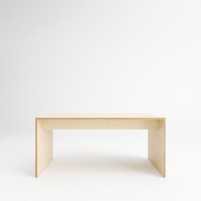 Custom Plywood Desk with Solid Sides Natural