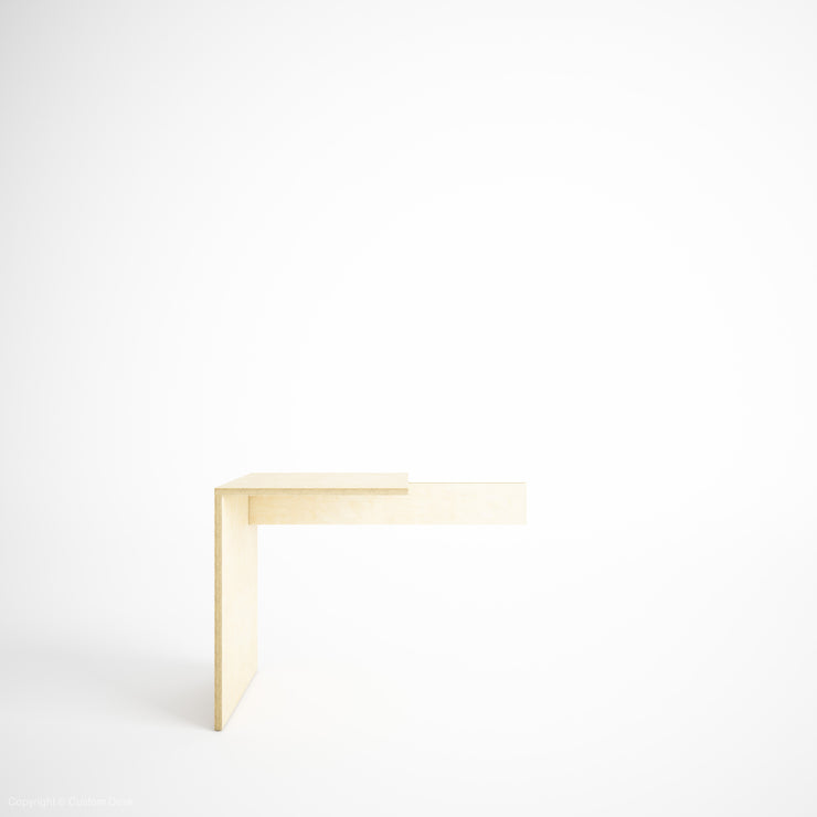 Custom Plywood Desk Extension With Solid Sides - Custom Desk