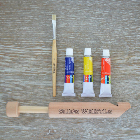 Paint your own crazy Slide Whistle