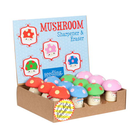Mushroom Sharpener & Eraser ( Set of 12 )