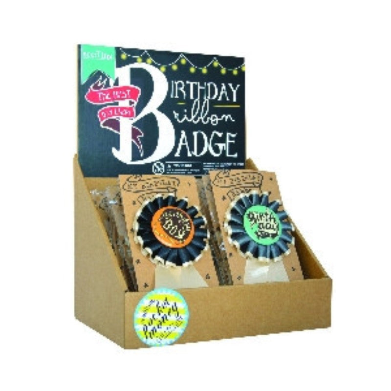 Birthday Ribbon Badge - Boy - The Best Day Ever ( Set of 24 )