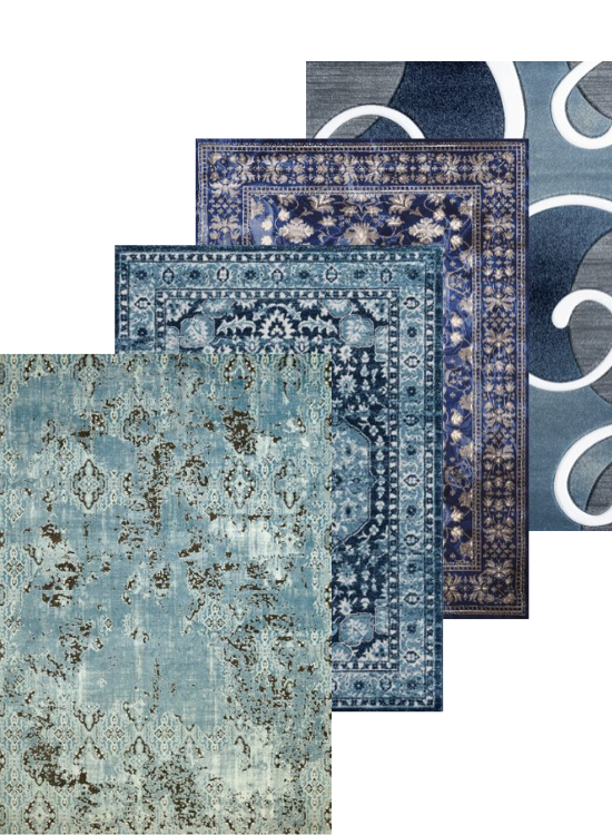 Blue Rugs and Blue Area Rugs Display | Rugs For Sale Outlet