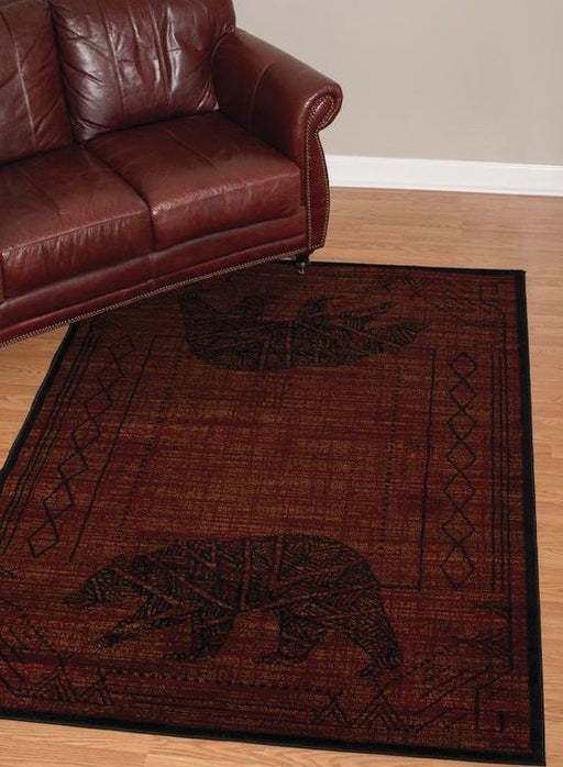 Bearwalk Red Rug | Rugs For Sale Outlet