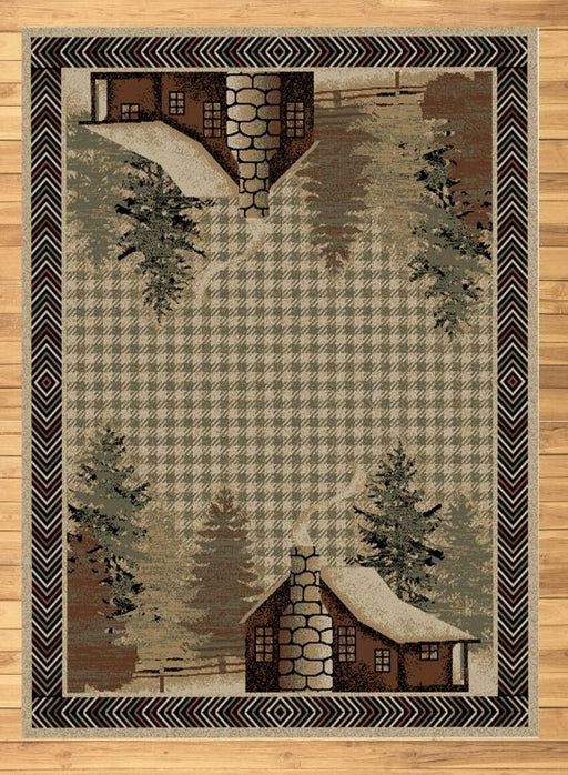 Cabin Solitude Beige Rug | Rugs For Sale Outlet