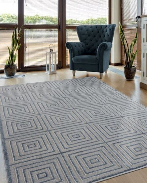 Contemporary Frame Rug Room View | Rugs For Sale Outlet