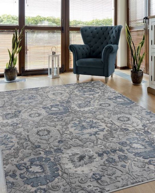 Contemporary Sapphire Rug Room View | Rugs For Sale Outlet