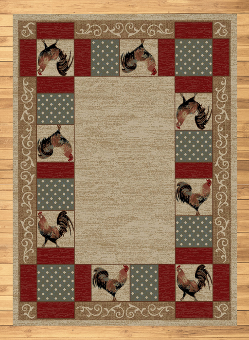 Farmhouse Rooster Rug | Rugs For Sale Outlet