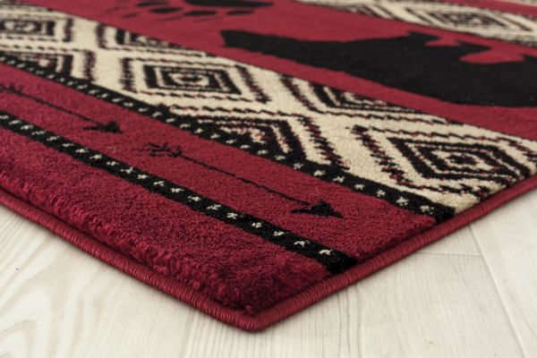 Granada Red Rug Edge View | Rugs For Sale Outlet