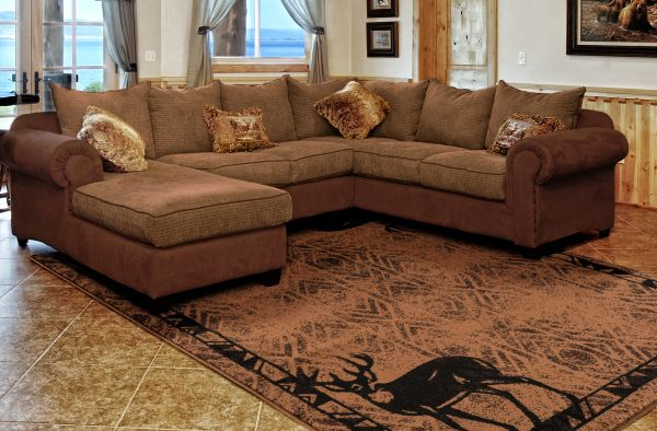 Hudson Brown Rug Room View | Rugs For Sale Outlet
