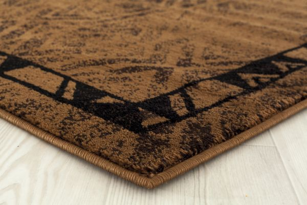 Hudson Brown Rug Edge View  | Rugs For Sale