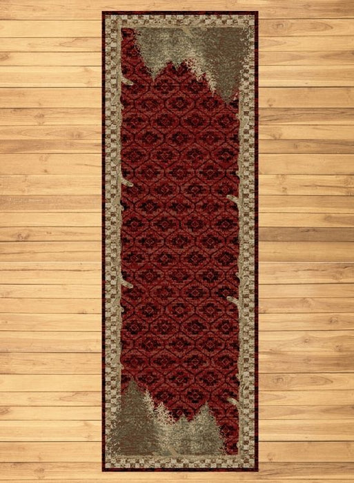 Nature Red Rug Runner | Rugs For Sale Outlet