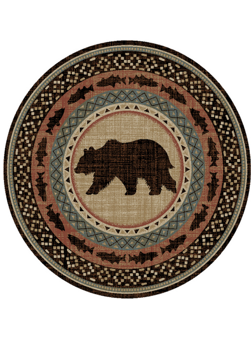 Spirit Lake Multi Rug Round | Rugs For Sale Outlet