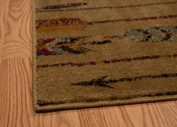 Tan Arrows Rug Edge View | Rugs For Sale Outlet
