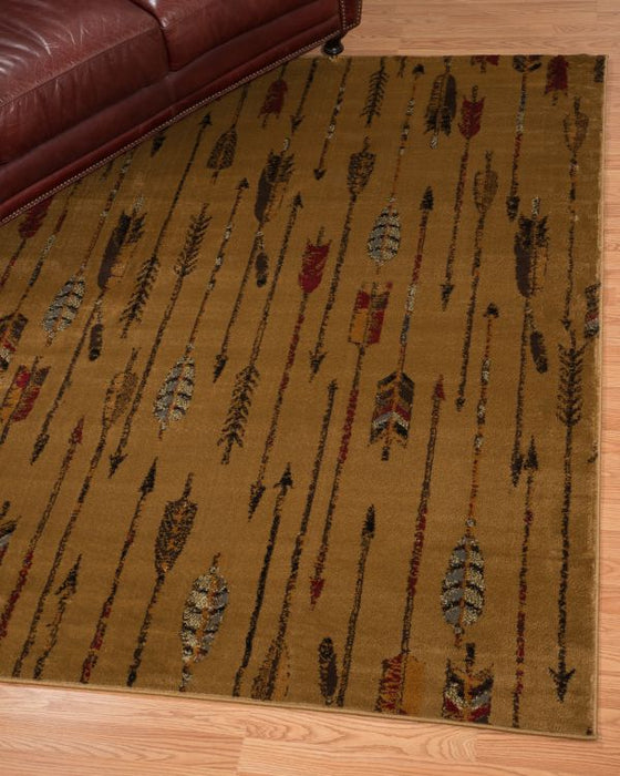 Tan Arrows Rug Room View | Rugs For Sale Outlet