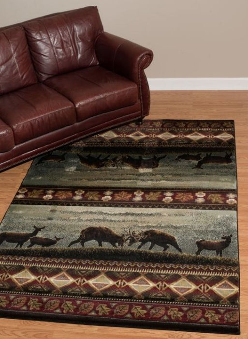 Hilltop Elk Rug Room View | Rugs For Sale Outlet