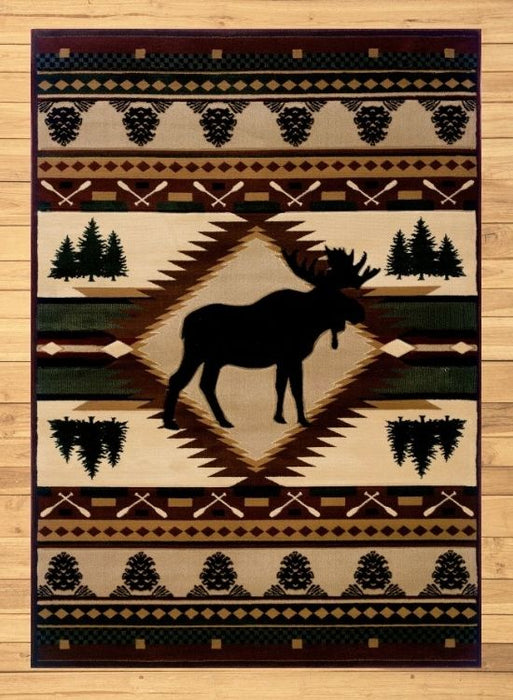 Moose Paddle Rug Overview | Rugs For Sale Outlet