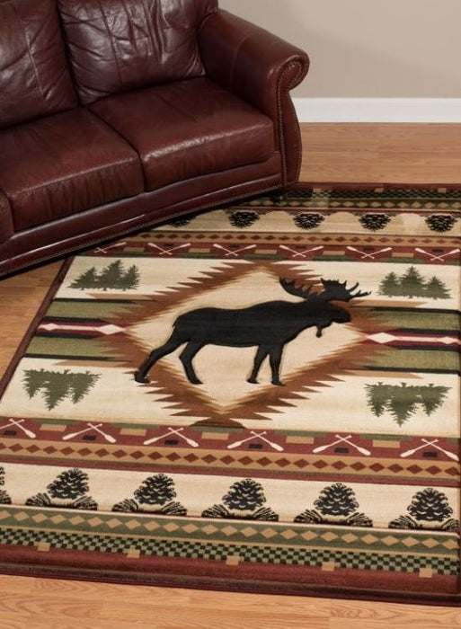 Moose Paddle Rug | Rugs For Sale Outlet