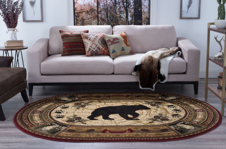 Northern Waters Rug Oval View | Rugs For Sale Outlet