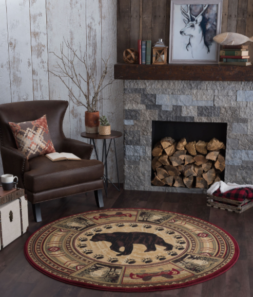 Northern Waters Rug Round View | Rugs For Sale Outlet