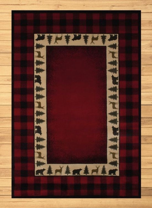 Plaid Forest Red Rug | Rugs For Sale Outlet