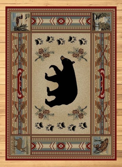 Shadow Mountain Bear Rug | Rugs For Sale Outlet