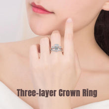 Load image into Gallery viewer, Three-layer Crown Ring