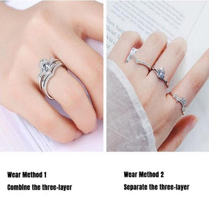 Three-layer Crown Ring