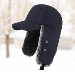Faux Fur outdoor Mountaineer Cap